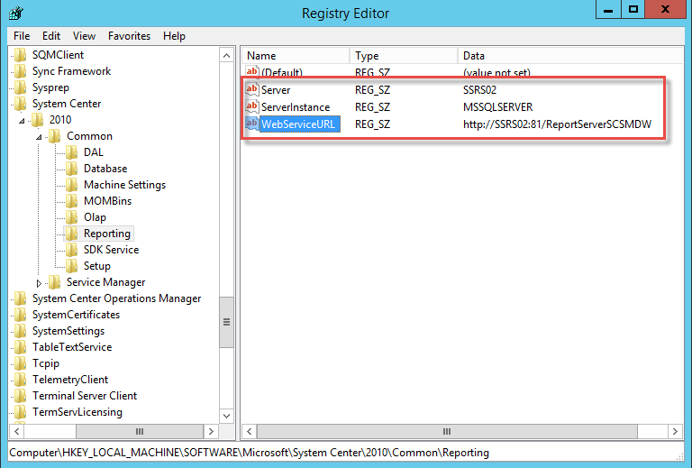 Changing the URL and/or Port of Reporting in Service Manager