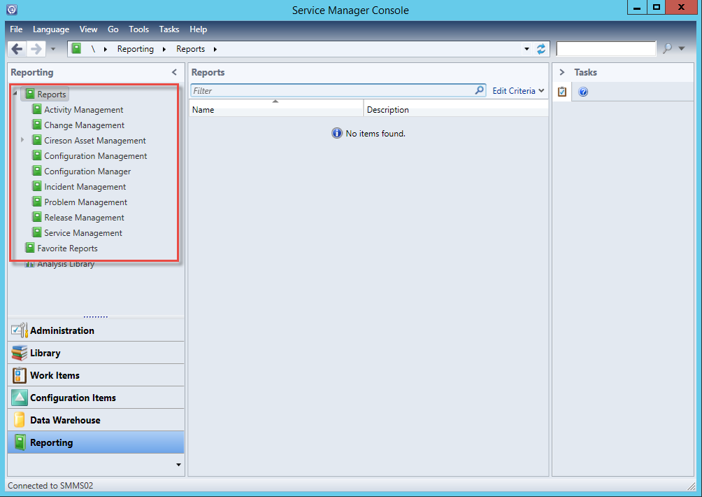 Changing the URL and/or Port of Reporting in Service Manager 2012
